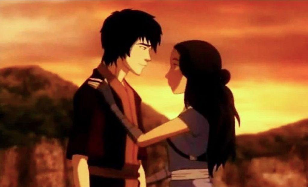 Katara and Zuko on ATLA