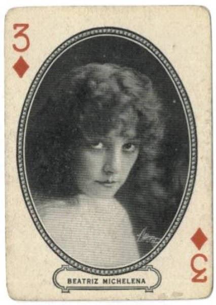 Beatriz Michelena, Photo: Wikipedia. M.J. Moriarty Playing Cards, 1916
