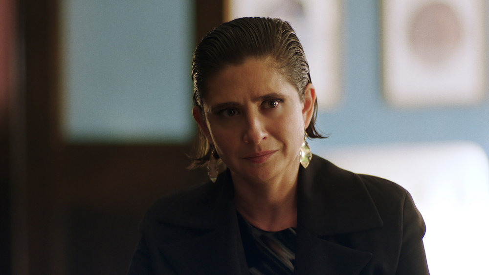 """QUEEN OF THE SOUTH -- """"More Money More Problems"""" Episode 505 -- Pictured in this screengrab: Vera Cherny as Oksana Volkova -- (Photo by: USA Network)"""