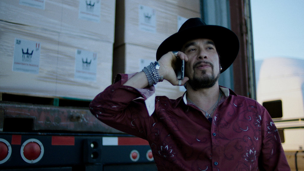 """QUEEN OF THE SOUTH -- """"Prueba de Balas"""" Episode 509 -- Pictured in this screengrab: Joseph T. Campos as Boaz Jiminez -- (Photo by: USA Network)"""